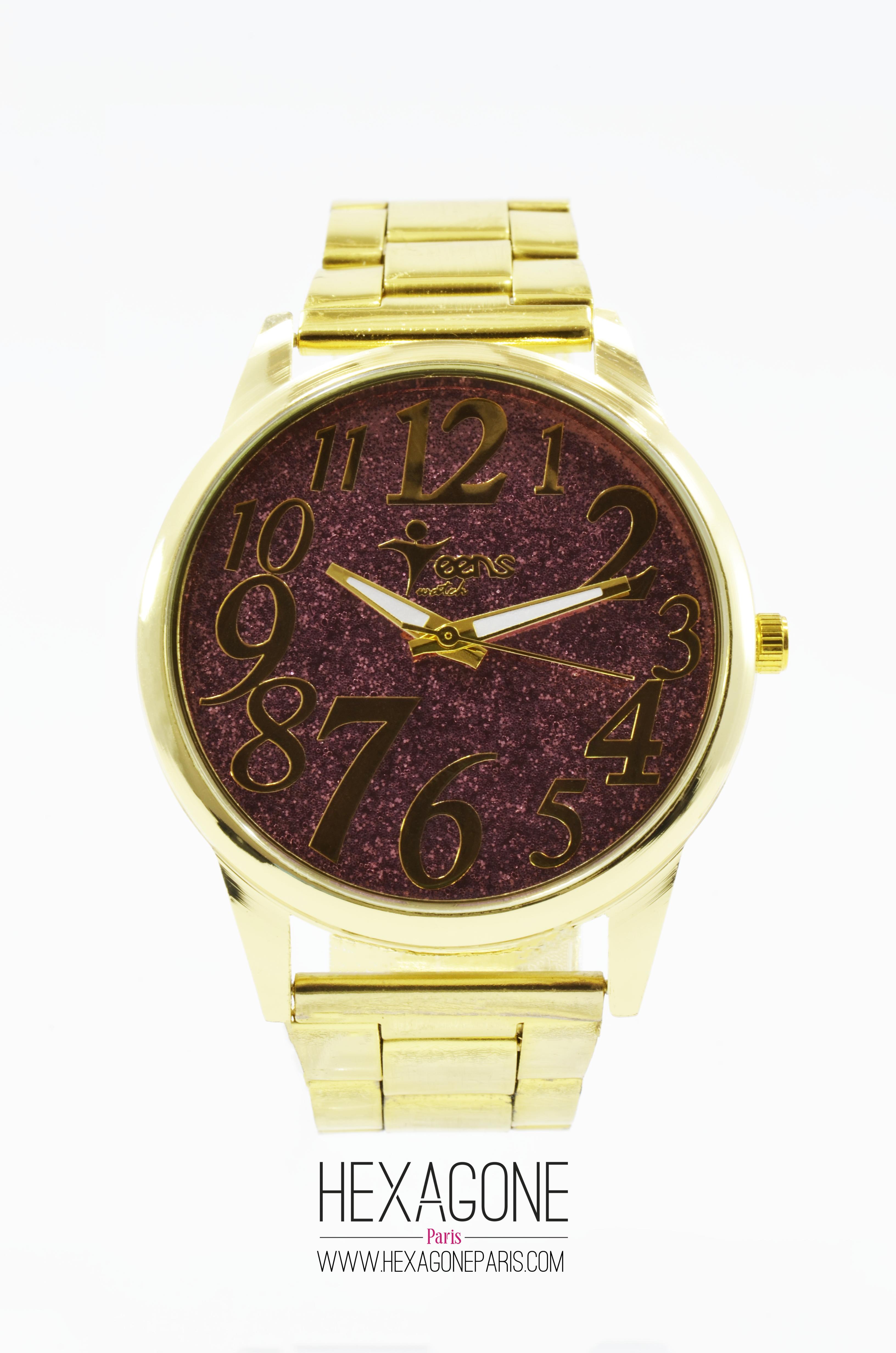 8b3a75e51aa3 Joyería Colombia - Reloj para Mujer 40mm en Acero Dorado y Morado