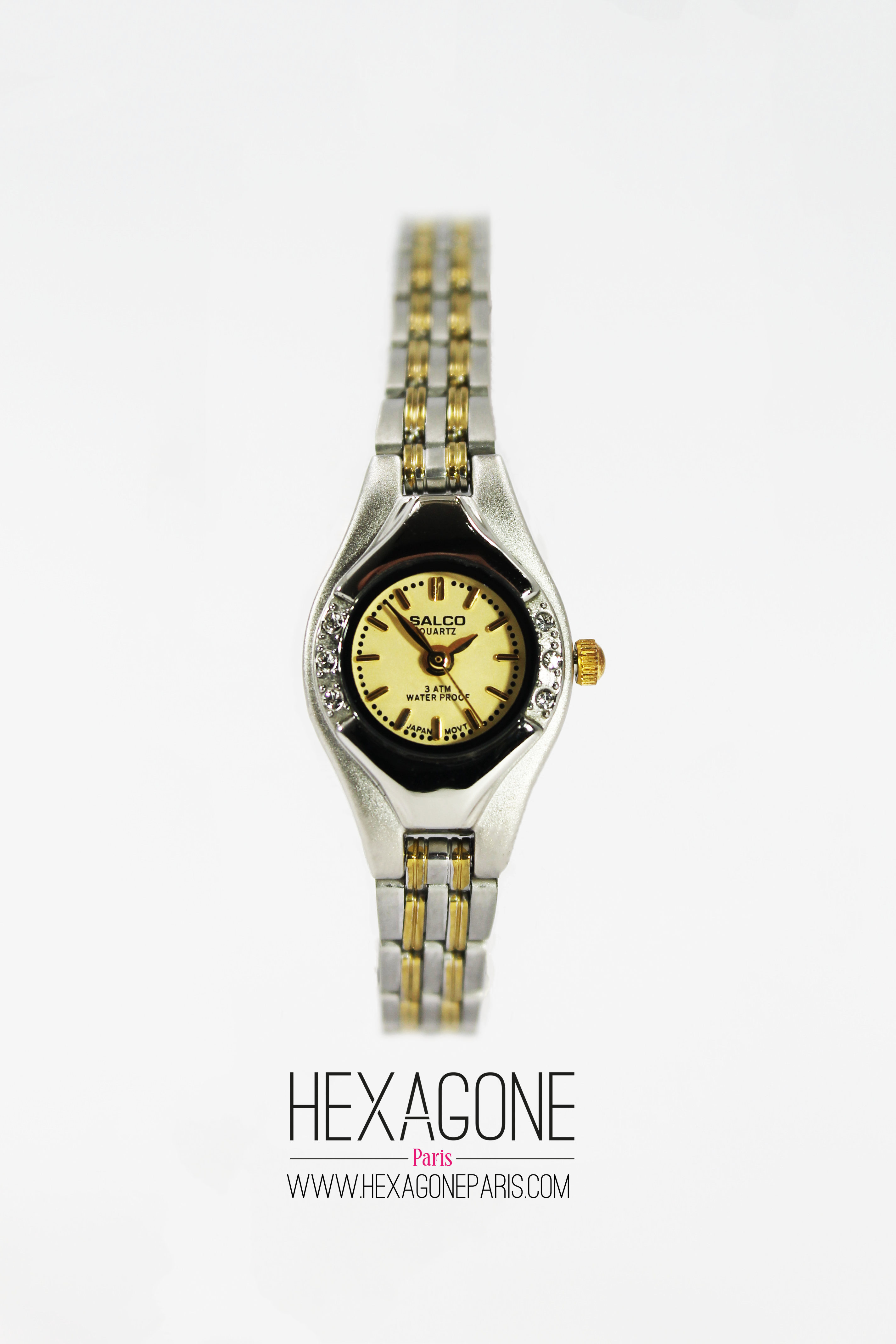 5baa5ed30ff3 Joyería Colombia - Reloj para Mujeres 15mm en Acero Dorado y Plateado